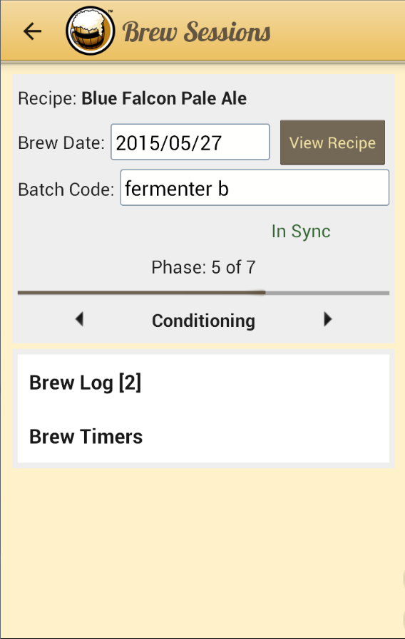 Android App Information Page Brewers Friend